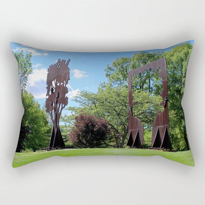 Connections I Rectangular Pillow