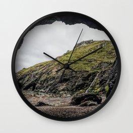 Merlins cove tintagel Wall Clock