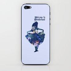 Alice in Wonderland - Blue iPhone & iPod Skin