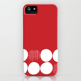 White Dots on Red Background iPhone Case