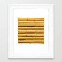 bamboo Framed Art Prints featuring Bamboo by Patterns and Textures