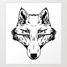 Quad-Eyes Art Print