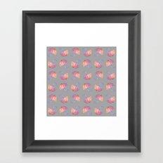 UMBRELLAS GRAY Framed Art Print