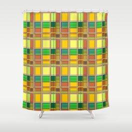 Caribbean Colorful Fabric Madras Tartan Shower Curtain