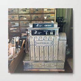 Antique Cash Register in Oslo Metal Print