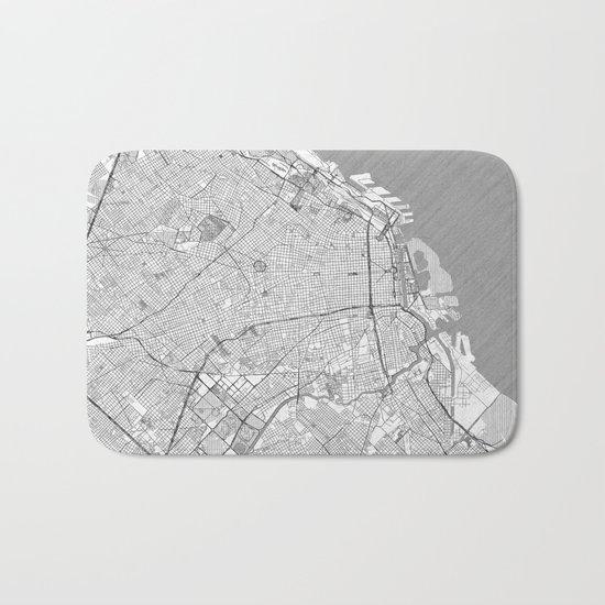 Buenos Aires Map Line Bath Mat