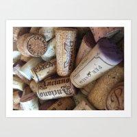 Wine Cork Art Print