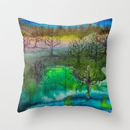 A Walk with Trees Throw Pillow