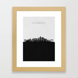 City Skylines: Los Angeles (Alternative) Framed Art Print