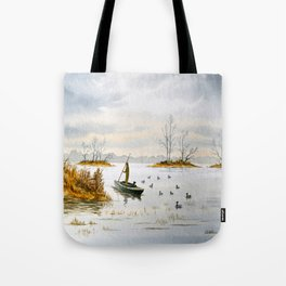 Duck Hunting - The Island Duck Blind Tote Bag