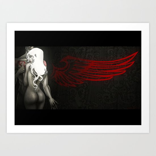 Red Angel Art Print
