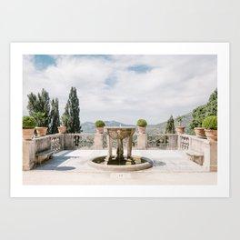 Italian Garden with Fountain Art Print