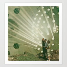 the light pours out of me Art Print