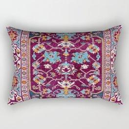 Romanian  Antique  Double Niche Carpet Rectangular Pillow