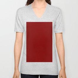 Maroon Red Unisex V-Neck
