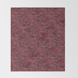 Pink Flowers, Blush Curves, fiber art Throw Blanket