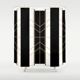 Black & Gold - Art Deco Shower Curtain