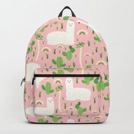 Alpaca and Cactus Pattern 1 Backpack