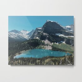 Lower Grinnell Lake, Glacier National Park, Montana Metal Print