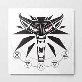 School of the Wolf - Black Metal Print