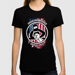 Union Iron Worker Gift | Proud American Skilled Labor Workers, Tradesmen, Craftsman & Professions T-shirt