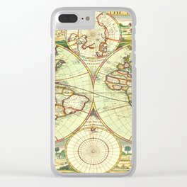 A new mapp of the world (1702) Clear iPhone Case