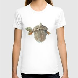 Fall acorn and oak leaves T-shirt