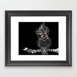 Owl Thought Framed Art Print