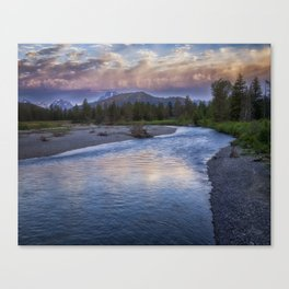 Morning on the Snake River - Grand Teton national Park Canvas Print