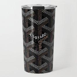 Black Goyard Original Travel Mug