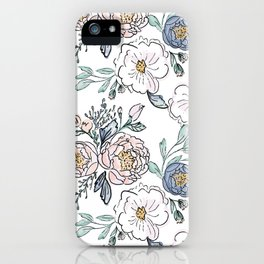 Indy Bloom Design Periwinkle Rose iPhone Case