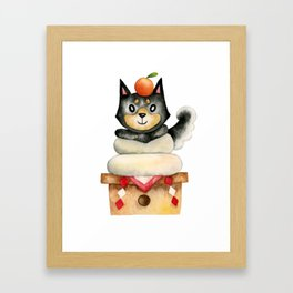 Mochi Shiba Framed Art Print