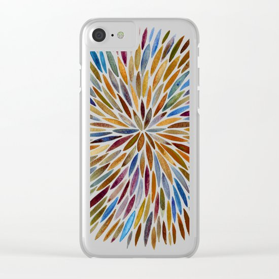 Watercolor Burst – Retro Palette Clear iPhone Case