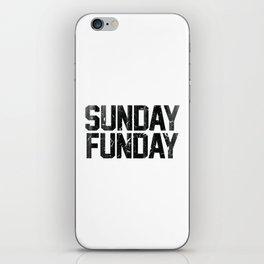 Sunday Funday Dirty Vintage Varsity Typography Print iPhone Skin