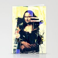 mona lisa Stationery Cards featuring mona lisa by manish mansinh