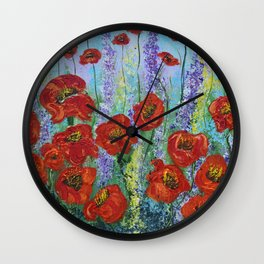 Poppy Insanity Wall Clock