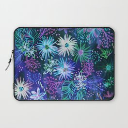 Eden Floral Blue Laptop Sleeve