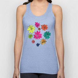 Blotted Flowers collection Unisex Tank Top