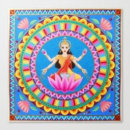 Goddess Lakshmi Mandala Canvas Print