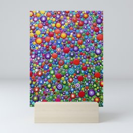Colorful Dotart by Mandalaole - Spring flowers Mini Art Print