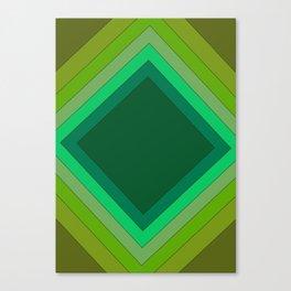 Green Geometry Canvas Print