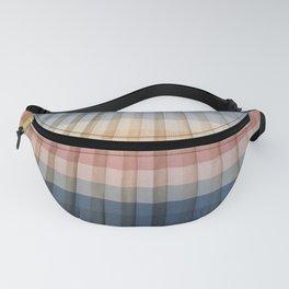 Sunrise Pleated Stripes Fanny Pack