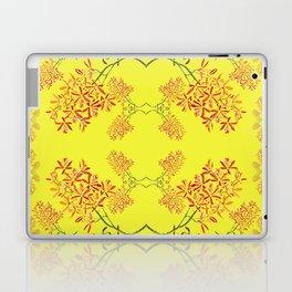 Orchids on Yellow Laptop & iPad Skin