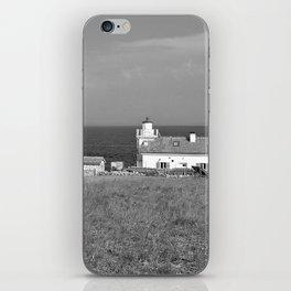 beach front lighthouse medulin croatia istria europe black white iPhone Skin
