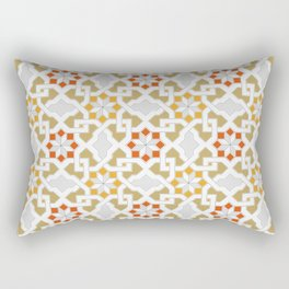 red, orange, white, brown -  Oriental design - orient  pattern - arabic style geometric mosaic Rectangular Pillow