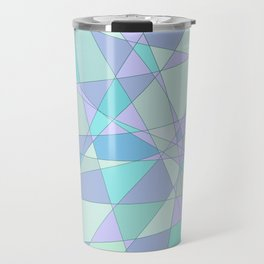 Shattered Purple & Green Travel Mug