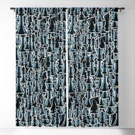 Chess Pattern II BLACK Blackout Curtain