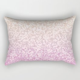 Champagne Gold and Pink Glitter Ombre Rectangular Pillow
