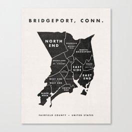 Bridgeport Map Canvas Print