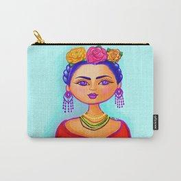 Flirty Frida Carry-All Pouch